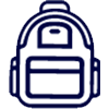 student affairs backpack icon