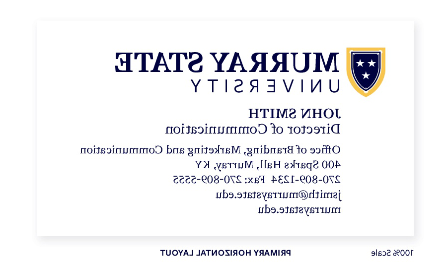 h要么izontal business card
